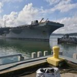 Aircraft Carrier USS Nimitz Enters Drydock
